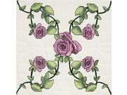 "Stamped Quilt Blocks 18""X18"" 6/Pkg-Rose Vine"