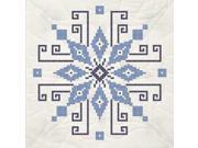 """Stamped Quilt Blocks 18""""X18"""" 6/Pkg-Cross Stitch Wheel"""