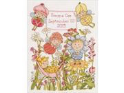 "Garden Fairies Birth Record Counted Cross Stitch Kit-10""X13"" 14 Count"