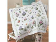 "Donna Dewberry Year Of Flowers Lap Quilt Stamped Cross Stitc-45""X45"""