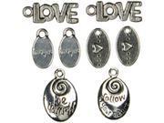 Jewelry Basics Metal Charms-Love/Heart 10/Pkg