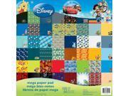 """Disney Mega Paper Pad 12""""X12"""" 150/Sheets-Boy&#59; 50 Designs/3 Ea"""