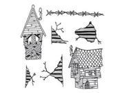 Dyan Reaveley's Dylusions Cling Stamp Collection-This Old House