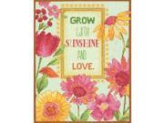 "Painted Daisy Verse Counted Cross Stitch Kit-8""X10"" 14 Count"