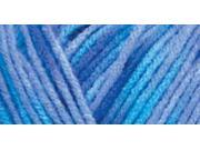 Red Heart Comfort Yarn-Turquoise/Blue Prints