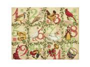 """12 Days Of Christmas Counted Cross Stitch Kit-14""""X11"""" 14 Count"""