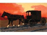 "Latch Hook Kit 38-1/2""X25""-Amish Buggy"
