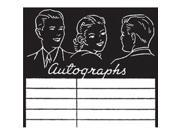 """Clear Acrylic Stamps-Autographs 3""""X2.625"""""""