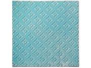 Salvaged Tin Ceiling Tile-Turquoise Rosette