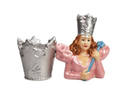 Wizard of Oz Good Witch Glinda and Crown Salt and Pepper Shaker Set