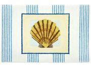 Tropical Scallop Clam Seashell Floor Mat Area Rug
