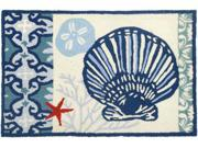 Scallop Clam Shell and Sand Dollar Floor Mat Area Rug