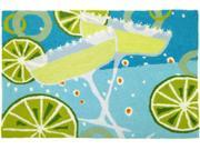Let's Party Margaritas and Limes Floor Mat Area Rug