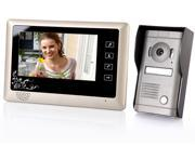 """7"""" TFT LCD Home Security Monitor Video Door Phone Doorbell Intercom System Touch Key"""