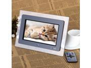 7'' HD TFT-LCD Digital Photo Frame with Slideshow Transparent Frame Alarm Clock MP3 MP4 Movie Player with Remote Desktop