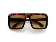 Large Retro-Nerd Bold Thick Square Frame Classic Glasses