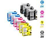 9 Brother MFC-J870DW Ink Cartridges Combo Pack (compatible)