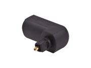 90 Degree Right Angle Toslink Digital Optical Jack to Mini Plug Audio Adapter
