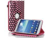 Galaxy Tab 3 8.0 Case - Slim Leather Smart Cover Stand For Samsung Galaxy Tab 3 8.0 T310 T311 T315 T3100 T3110 with Auto Sleep & Wake Hand Strap and ID/Credit Card and SD Card Slots Polka Dot Pink