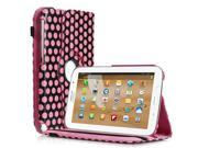 Rotating Polka Dot Pattern Leather Case Cover With Stand For Samsung Galaxy Note 8.0 N5100 Pink