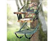 Tree Stand Climber Self-Climbing Treestand Hunting Deer Bow Game Hunt Chair Portable Camouflage Finish 300 lbs Weight Limit