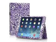 iPad 1 Case - Slim Fit PU Folio Leather Cover Stand - with Built-in Stand and Stylus Holder For Apple iPad 1 1st Generation - Leopard Pattren Purple