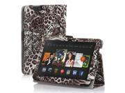 Amazon Kindle Fire HD 7 Case - Slim Fit Folio Leather Smart Cover Stand For Amazon Kindle Fire HD 7'' 2nd Gen 2013 Model with Auto Sleep & Wake Feature and Stylus Holder Tiger Pattern Brown