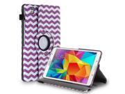 Samsung Galaxy Tab Pro 8.4 Rotating Case Cover - PU Leather 360 Degree Swivel Stand for Tab Pro 8.4 inch Tablet with Auto Sleep/Wake Wave Pattern Purple