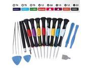 16 in 1 Repair Opening Tools Kit Screwdriver Set for iPhone 5/5C/5S/4/4S/3/3GS iPad 1/2/3/4 iPod Touch Samsung Galaxy S2 S3 S4 Note 2 PSP NDS & HTC