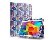 "Samsung Galaxy Tab S 8.4"" Folio Smart Case Slim Hard Shell Leather Cover Stand Square Multi Color Diamond Shape"