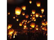 Chinese Sky Fly Fire Paper Lanterns For Wedding Birthday Party Festival Christmas Chinese Balloon Wishing Lamp Large White