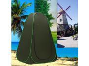 Pop Up Dressing Tent Portable Outdoor Privacy Shower Toilet Fitting Changing Room for Camping Hiking Beach Park Mountain Area with Zippered Carrying Bag in Olive Green