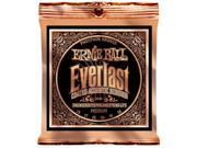 Ernie Ball Acoustic Guitar Strings  - Everlast Phosphor Bronze Coated - 13-56