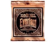 Ernie Ball Acoustic Guitar Strings  - Everlast Phosphor Bronze Coated - 11-52
