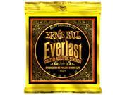 Ernie Ball Acoustic Guitar Strings - Everlast 80/20 Coated - 11-52 - 1 Pack