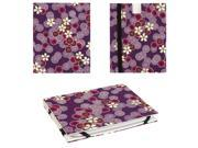 JAVOedge Cherry Blossom Book Case for the Barnes & Noble Nook Simple Touch Reader (Twilight Purple)