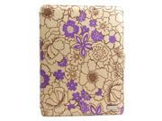 JAVOedge Poppy Axis 360 Rotating Smart Cover Case with Stand for the Apple iPad 3, iPad 4 (Plum Purple)