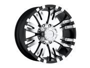 Pro Comp Alloy 8101-7970 Xtreme Alloys Series 8101 Gloss Black w/Machined Finish&#59; Size 17x9&#59; Bolt Pattern 8x170mm&#59; Back Space 4.75 in.&#59;