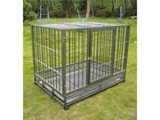 "42"" Heavy Duty Dog Pet Cat Bird Crate Cage Kennel HS"