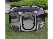 New Pink Leopard As Seen On TV Pet Dog Cat Tent Playpen Exercise Play Pen Soft Crate L