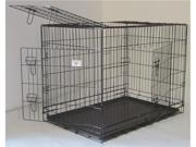 "36"" Pet Folding Dog Cat Crate Cage Kennel w/ABS Tray"