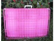 "42"" 2 Door Pink Folding Dog Crate Cage Kennel LC ABS"