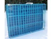 "48"" 2 Door Blue Folding Dog Crate Cage Kennel LC ABS"