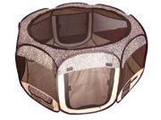 Leopard Skin Pet Dog Cat Tent Puppy Playpen Exercise Pen S