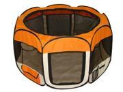 Orange Pet Dog Cat Tent Puppy Playpen Exercise Pen S