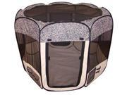 Leopard Skin Pet Dog Cat Tent Puppy Playpen Exercise Pen L