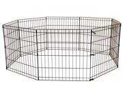 36 Black Tall Dog Playpen Crate Fence Pet Kennel Play Pen Exercise Cage