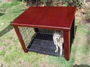 """Wood Dog Crate Table Fit Folding 24"""" Pet Cage Furniture"""