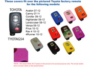 Green Silicone Key Fob Cover Case Smart Remote Pouches Protection Key Chain Fits: Toyota Rav 4 10-13