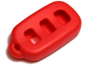 Red Silicone Key Fob Cover Case Smart Remote Pouches Protection Key Chain Fits: Toyota Matrix 03-08